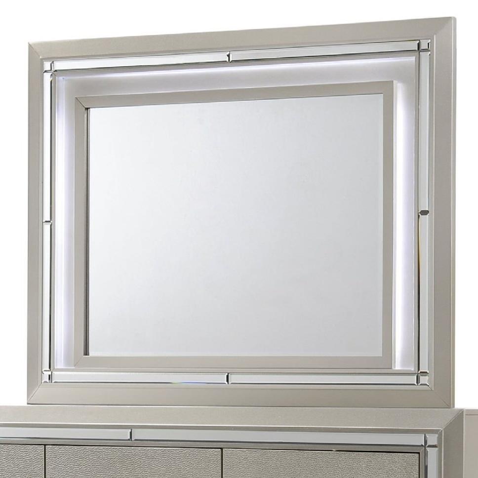 Elements International Platinum Dresser Mirror - Item Number: LT100MR