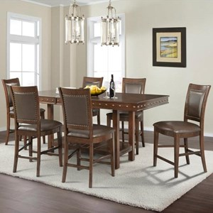 Elements International Prescott Table and Chair Set