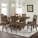 Elements International Prescott Table and Chair Set - Item Number: DSP100DT+6xDSP100SC