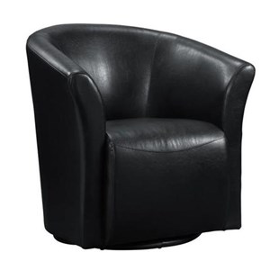 Elements International Rocket Upholstered Swivel Chair