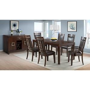 Elements International Rodney Formal Dining Room Group