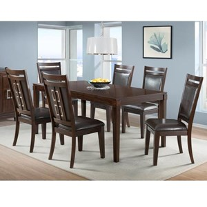 Elements International Rodney Table and Chair Set