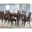 Elements International Rodney Dining Room Set - Item Number: RD200DT+2xRD200AC+4xRD200SC