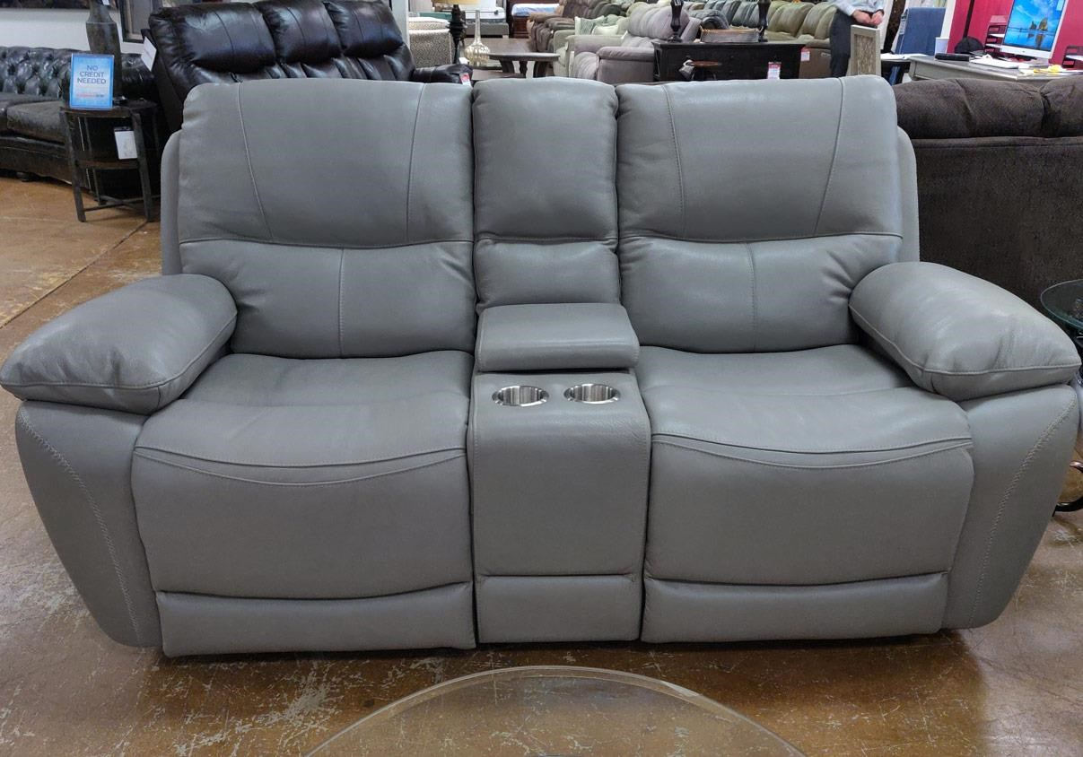 Leather Reclining Loveseat