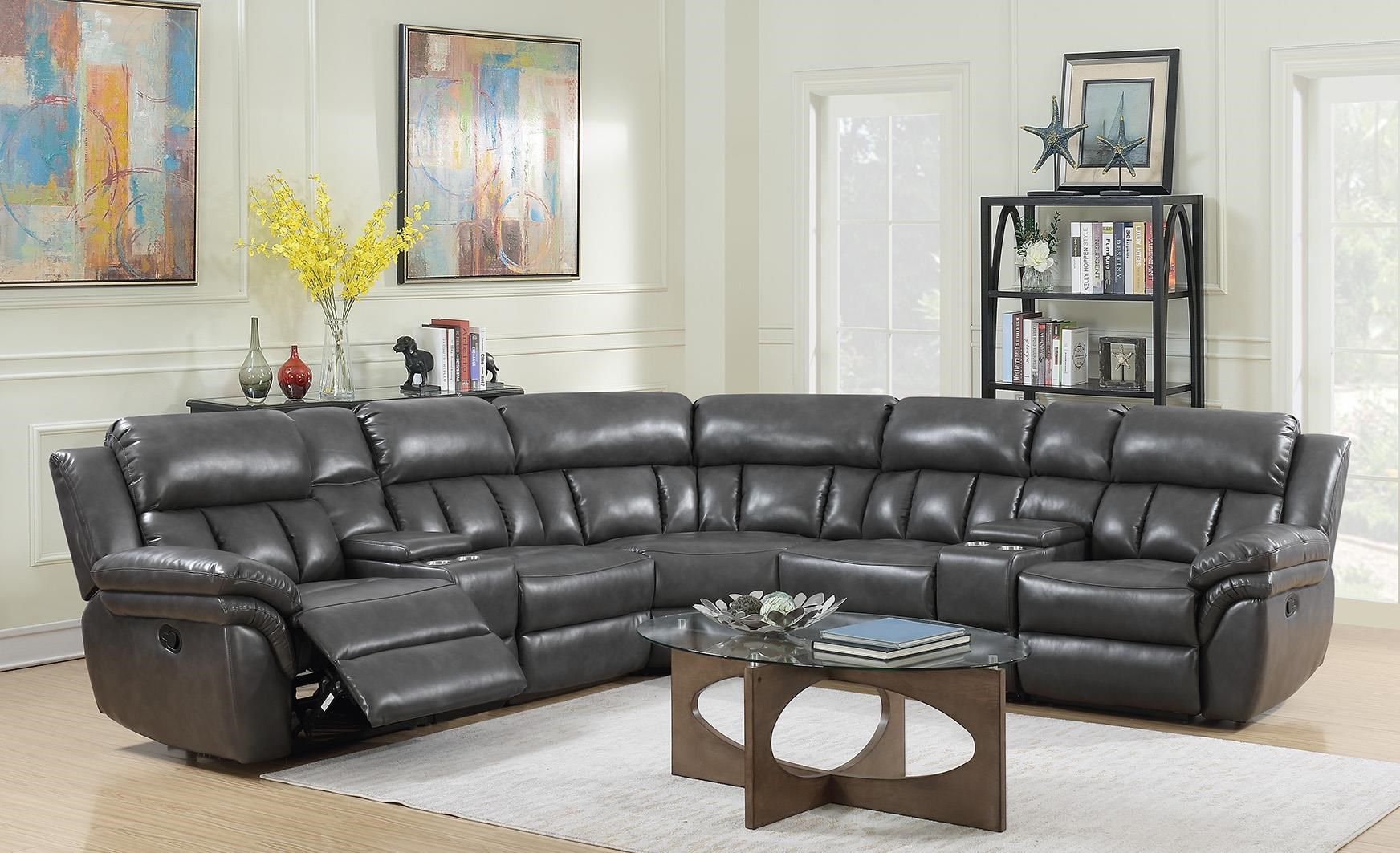 Power Recliner Sectional