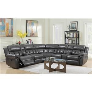 Elements Santorini Power Recliner Sectional
