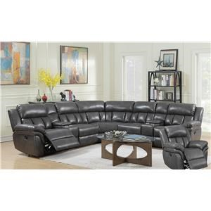 Elements Santorini Power Motion Sectional with Recliner
