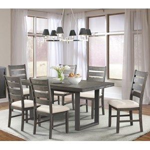 Elements International Sawyer Dining Set with Six Chairs