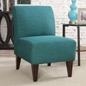 Elements International Scarlett Slipper Chair - Item Number: USCxx100CA-Heirloom Teal