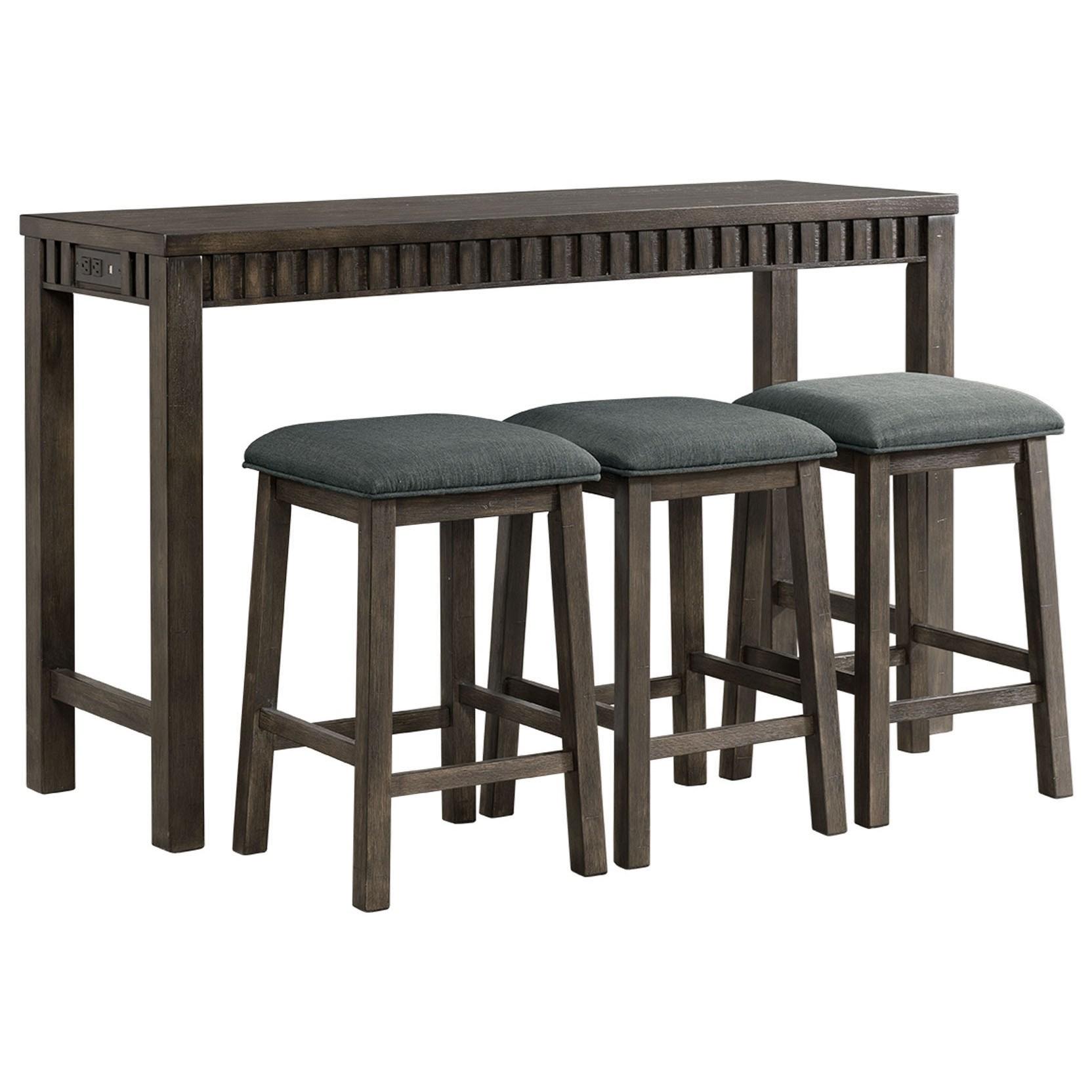 Counter Height Multipurpose Bar Table Set