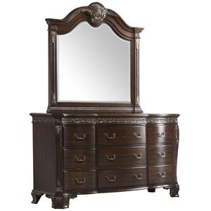 Elements International Southern Belle Dresser and Mirror