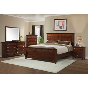 Elements International Spencer Queen Bedroom Group
