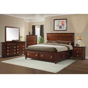 Elements International Spencer Twin Storage Bedroom Group