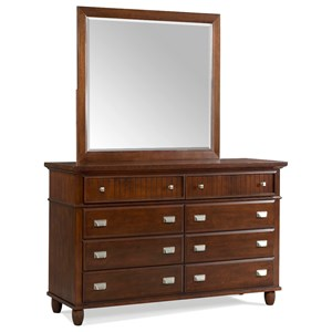 Elements International Spencer Dresser and Mirror