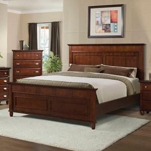 Elements International Spencer Full Panel Wood Bed