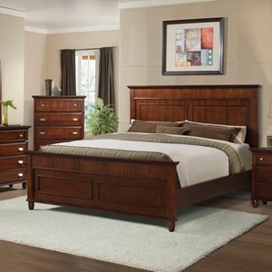 Elements International Spencer Twin Panel Wood Bed