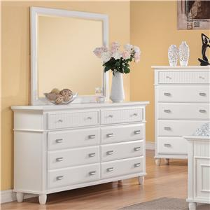 Elements International Spencer Dresser and Mirror