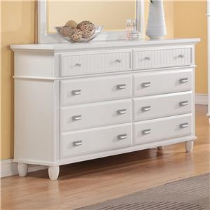 Elements International Spencer White Dresser