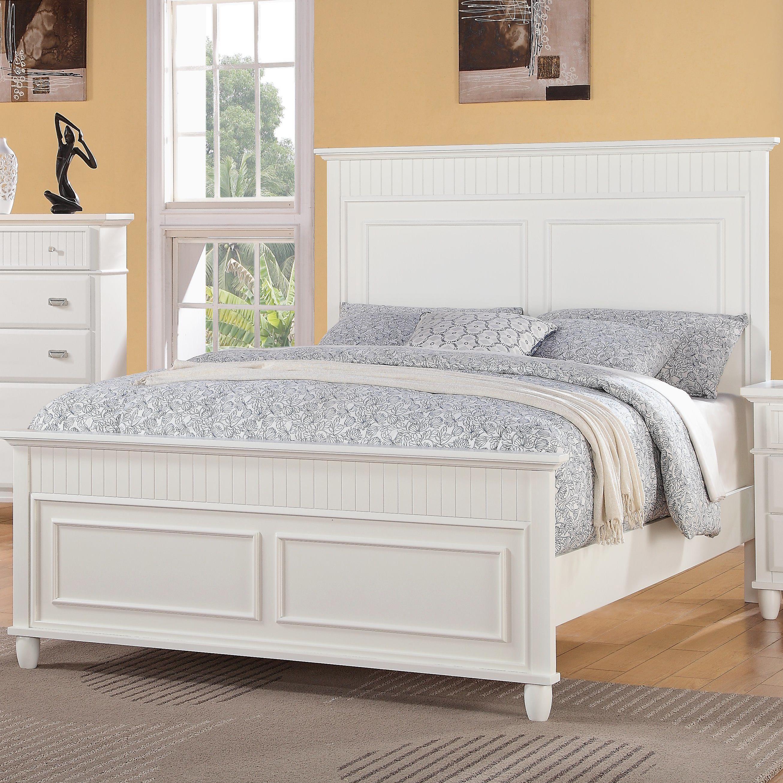 Queen Panel Wood Bed