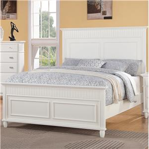 Elements International Spencer Queen Panel Wood Bed