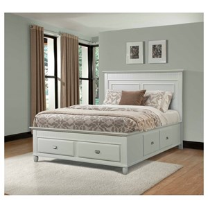 Elements International Spencer King Storage Bed