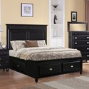 Elements International Spencer Twin Storage Bed - Item Number: SP850TB