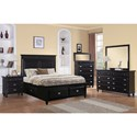 Elements International Spencer Twin Panel with Storage Drawers