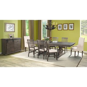 Elements International Stone Dining Room Group