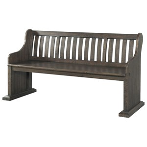 Elements International Stone Pew Bench