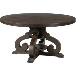 Elements International Stone Round Dining Table
