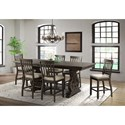 Elements International Stone 7-Piece Counter Height Dining Set - Item Number: DST190C7PC