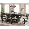 Elements International Stone 9-Piece Counter Height Dining Set  - Item Number: DST190C9PC