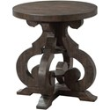 Elements International Stone Round End Table - Item Number: TST100ET