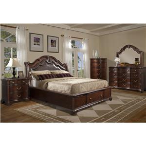 Elements International Tabasco Queen Bedroom Group