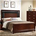 Elements International Tanner Twin Panel Bed - Item Number: TA300TH+TF+TFR