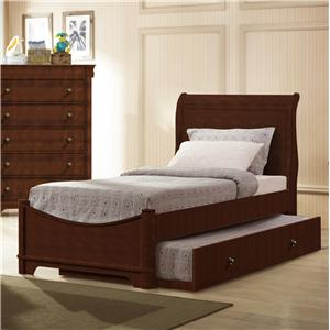 Elements International Taylor  Twin Sleigh Bed with Trundle