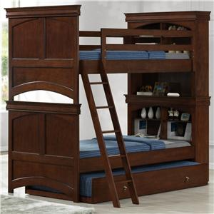 Elements International Taylor  Twin/Twin Bunk Bed with Trundle