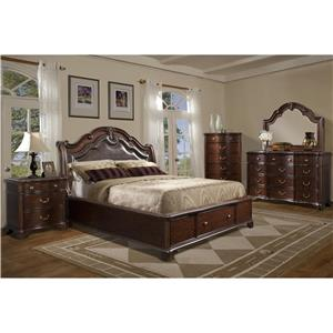 Elements International Tabasco King Bedroom Suite