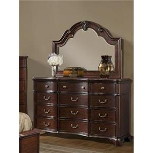 Elements International Tabasco Dresser & Mirror