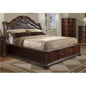 Elements International Tabasco Queen Bed