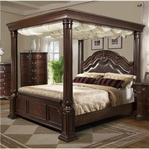 Elements International Tabasco King Canopy Bed