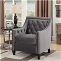 Elements International Tiffany Chair Accent Chair - Item Number: UTF BROADWAY GUNMETAL