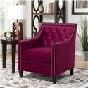 Elements International Tiffany Chair Accent Chair - Item Number: UTF BROADWAY RED