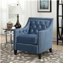 Elements International Tiffany Chair Accent Chair - Item Number: UTF MARINE BLUE
