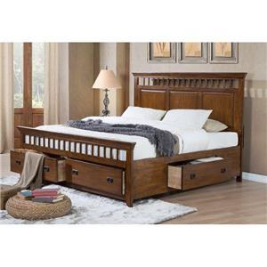 Elements International Trudy Queen Storage Bed