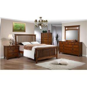 Elements International Trudy Four Piece Queen Bedroom