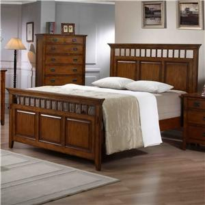 Elements International Trudy King Panel Bed