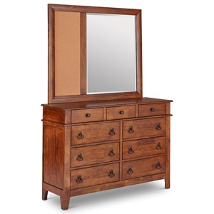 Elements International Tucson Dresser and Mirror Set