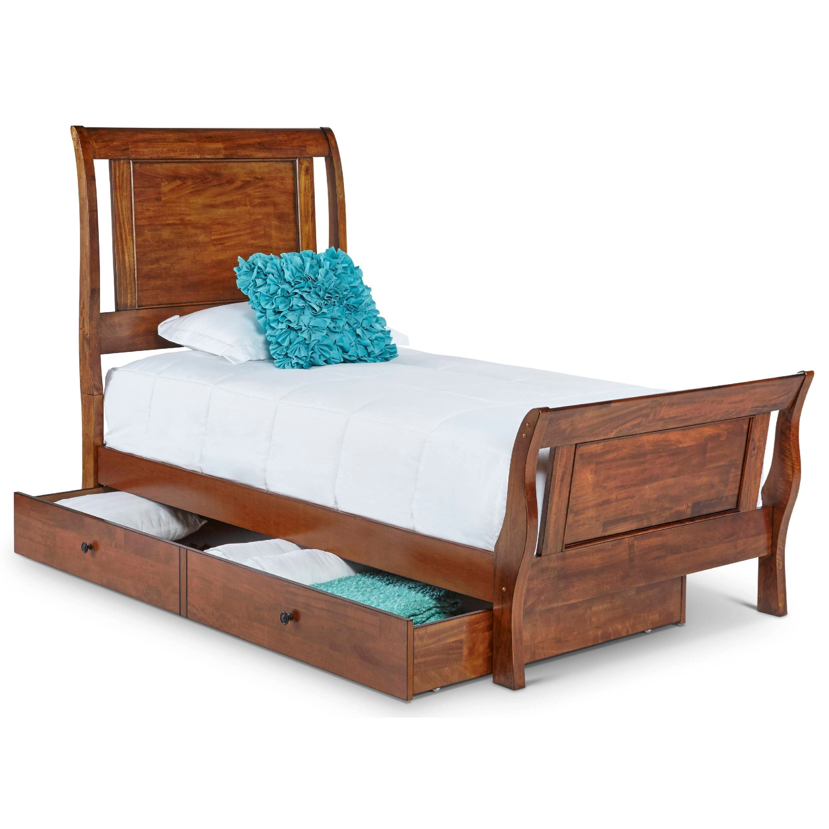 Elements International Tucson Transitional Twin Sleigh Bed With