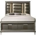 Elements International Twenty Nine King Low Profile Bed - Item Number: TN600KH+KF+KS+QKR
